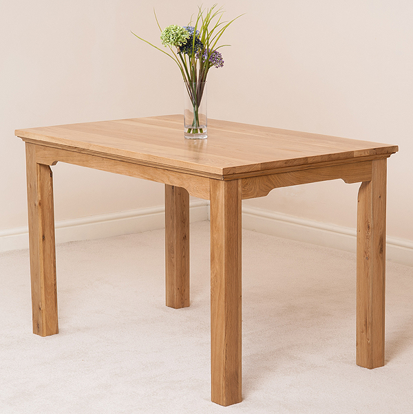 Aspen solid oak 120 x 75cm dining table dinning room for 120 inch dining room table