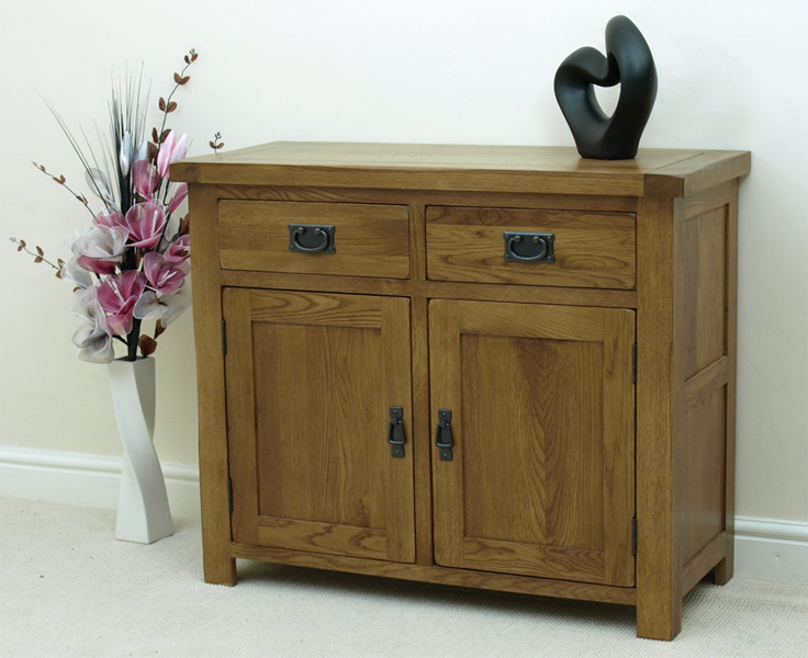 COTSWOLD RUSTIC SOLID OAK SMALL SIDEBOARD CABINET DINING ROOM EBay