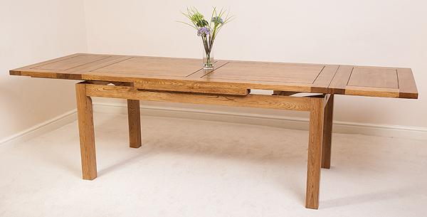 rustic solid oak 6ft x 3ft extending dining table furniture new ebay