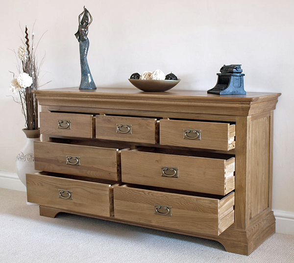 rustic solid oak large 3 4 chest of drawers bedroom furniture ebay