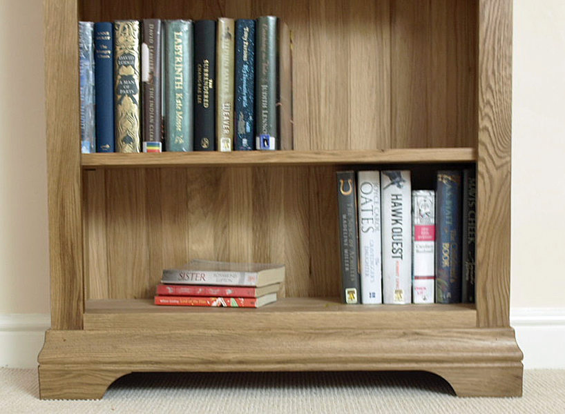 small rustic oak bookcase 1
