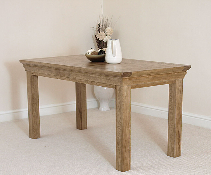 French rustic solid oak 5ft kitchen dining room table ebay for 5ft dining room table