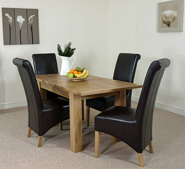dining table 4 brown montana leather chairs the hampton dining table