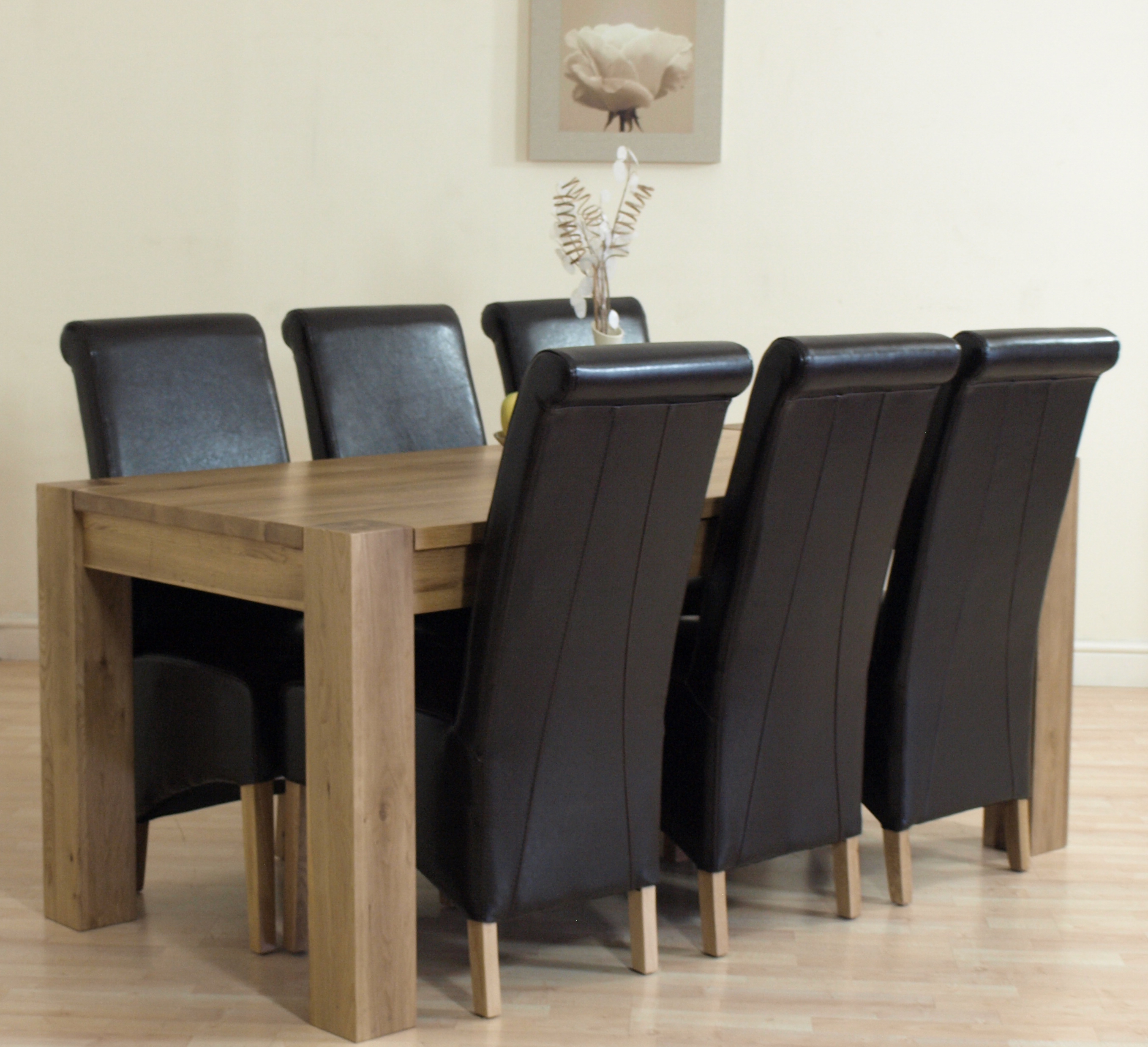 Ebay Uk Dining Table And 6 Chairs Chunky Solid Oak  : Kubabrown6L2 from honansantiques.com size 2717 x 2477 jpeg 2887kB