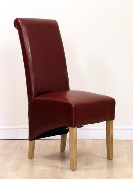 Oak Dining Table And 6 Black Washington Braced Leather  : redchairoakL1 from www.50han.com size 512 x 686 jpeg 204kB