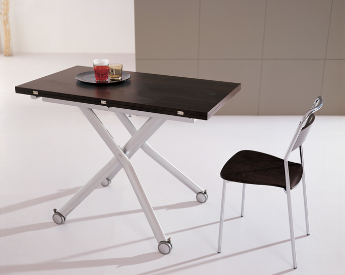 2 In 1 Height Adjustable Extending Coffee Dining Table Ebay