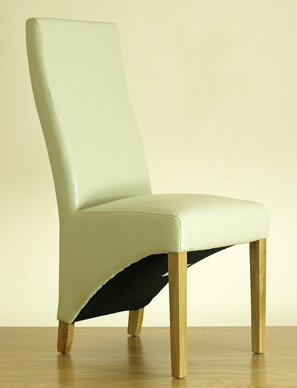 Lola Curved Back Leather Chairs