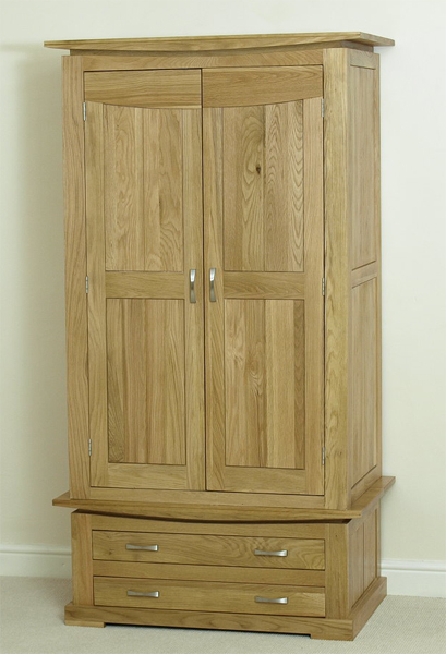milan 100 solid oak double wardrobe experience a solid oak wardrobe