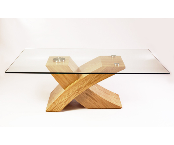 Milano Designer Glass Wood Coffee Table Furniture Oak Ebay
