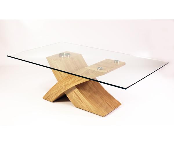 Milano Designer Glass Wood Coffee Table Furniture Oak Ebay