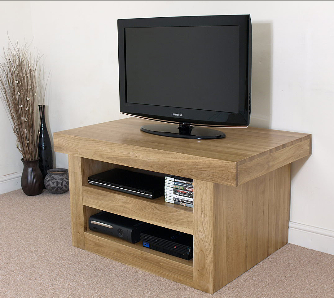 neo chunky solid oak tv cabinet stand entertainment unit. Black Bedroom Furniture Sets. Home Design Ideas
