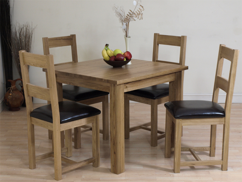 details about oslo solid oak dining table chairs set furniture new