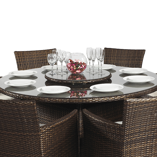 Outdoor Patio Furniture Savannah Ga: SAVANNAH 8 SEATER RATTAN OUTDOOR PATIO GARDEN FURNITURE