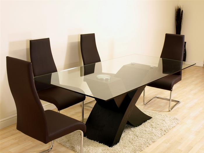 valencia black large glass dining room table furniture ebay