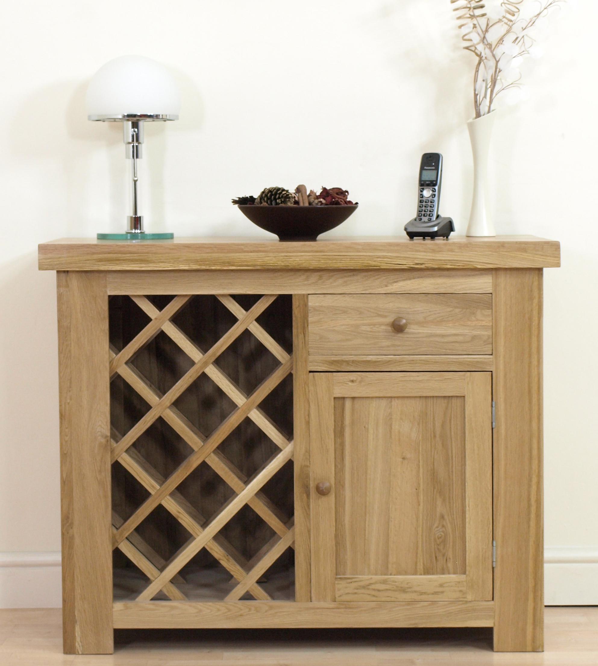Oak Wine Rack Kitchen Cabinet
