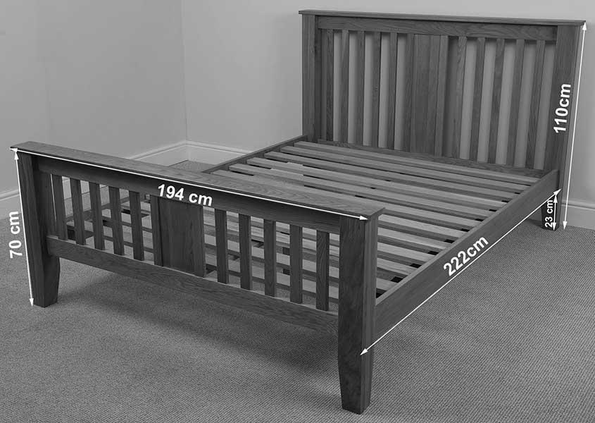 boston solid oak wood 6ft super king size bed frame wooden bedroom furniture ebay. Black Bedroom Furniture Sets. Home Design Ideas