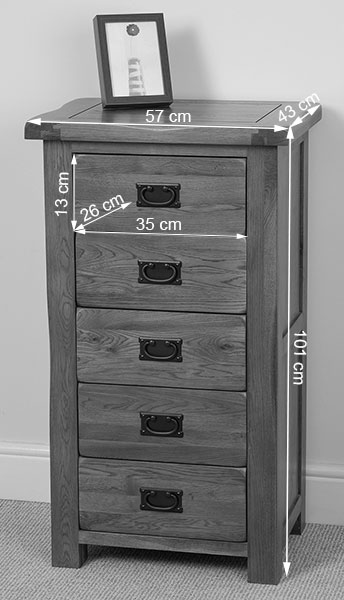 solid oak wood chest of 5 drawers tallboy bedroom furniture ebay