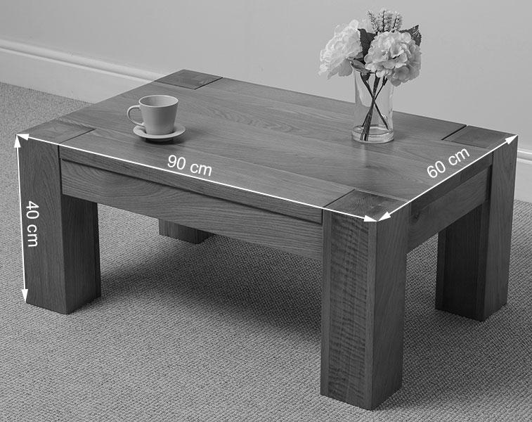 Kuba Solid Oak Wood Coffee Table Unit Wooden Living Room