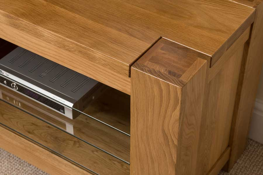 Kuba Solid Oak Wood TV DVD HI FI Television Cabinet Stand Living Room  Furniture. Solid Oak ... Part 73