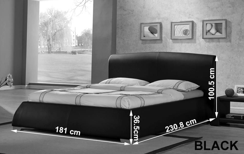 Modena Stylist Designer Leather Double Or Kingsize Bed Frame Bedroom Furnitur