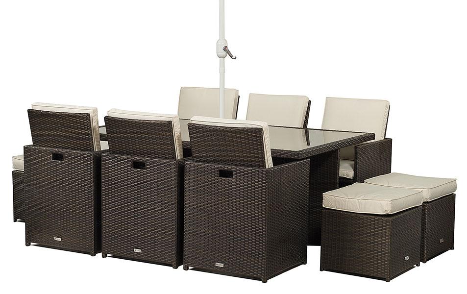 Giardino Seat Cube Rattan Dining Table Chairs Garden Outdoor