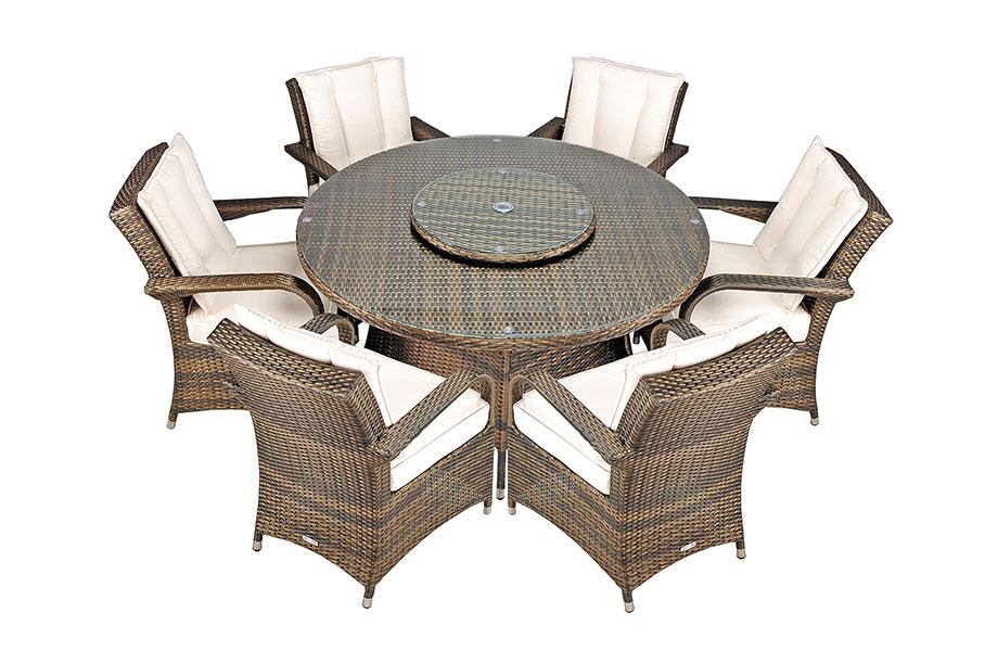 Arizona Rattan Garden Furniture 6 Seat Round Glass Top  : BG2037DT 5B6S5D 002 from www.ebay.co.uk size 908 x 600 jpeg 116kB